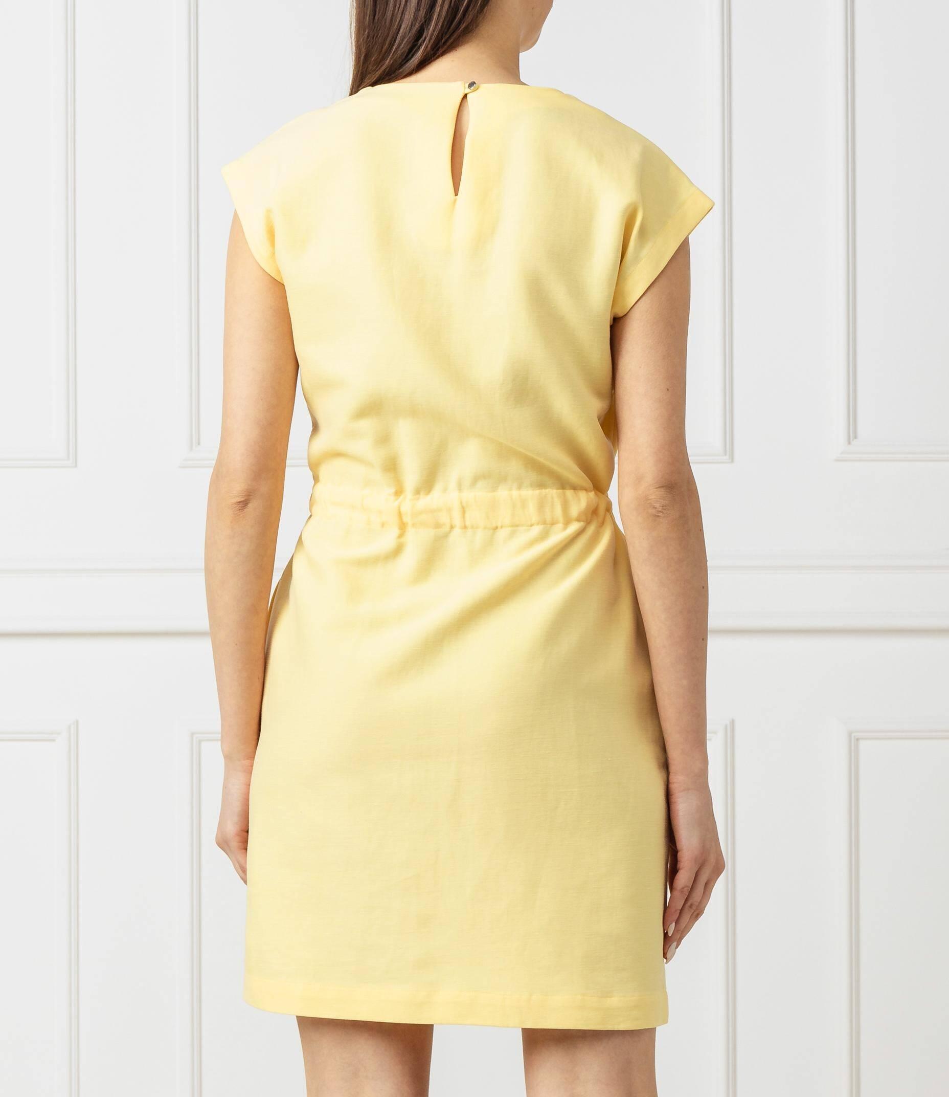 Sukienka CAROLINA | z dodatkiem lnu Tommy Hilfiger
