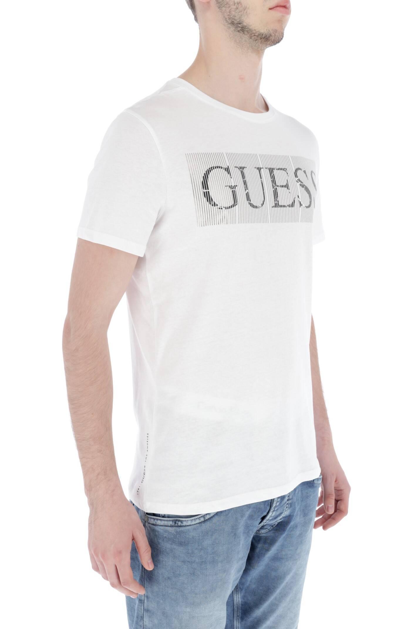 T shirt FOIL BAND | Slim Fit Guess Jeans | Czarny M83I04 I3Z00