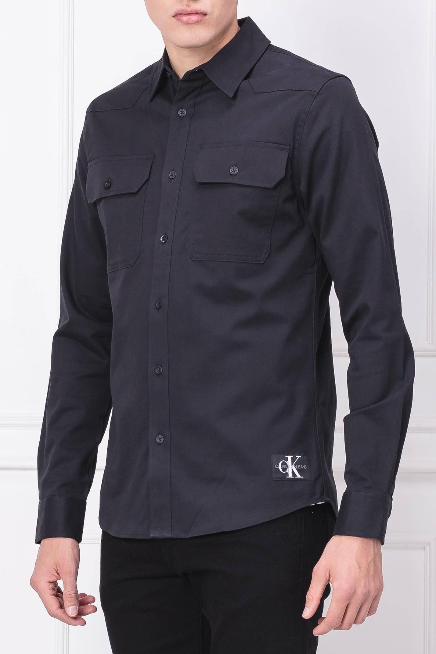 2b72d4bfb Shirt WESTERN STRETCH TWILL   Slim Fit Calvin Klein Jeans   Black    Gomez.pl/en