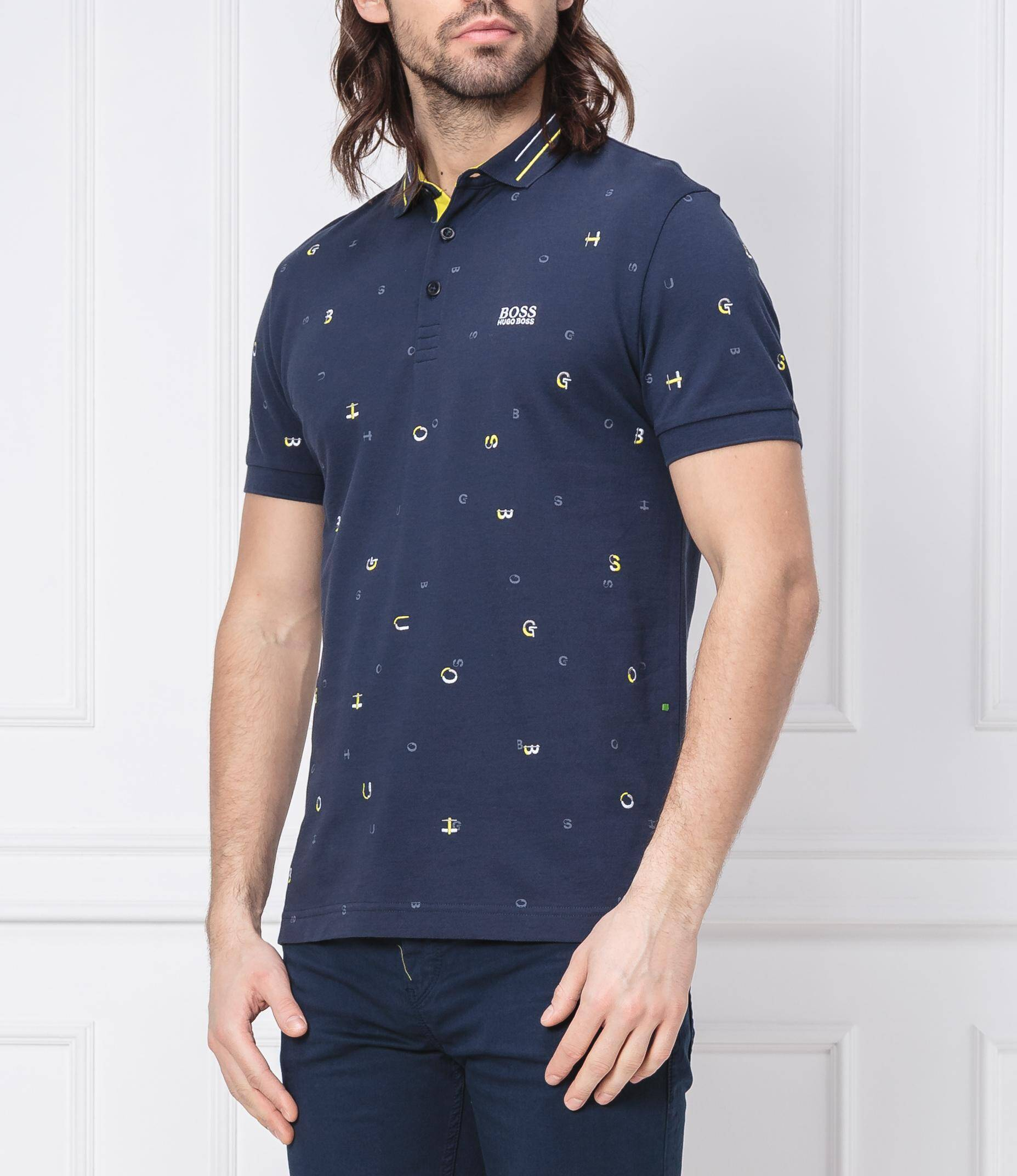 017691fc Polo Paddy 7 | Regular Fit | pima Boss Athleisure | Navy blue | Gomez.pl/en