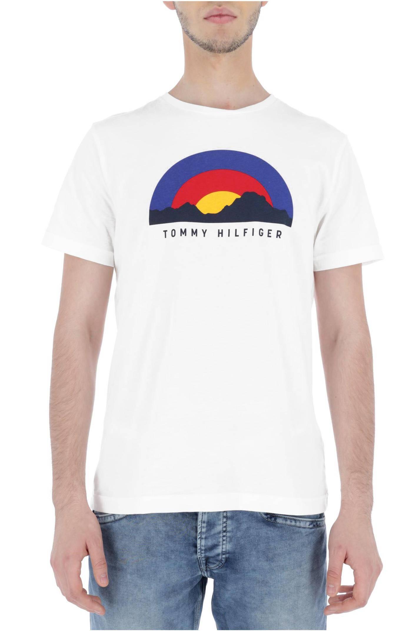 c290317b8a T-shirt SUNRISE GRAPHIC | Regular Fit Tommy Hilfiger | Biały | Gomez.pl