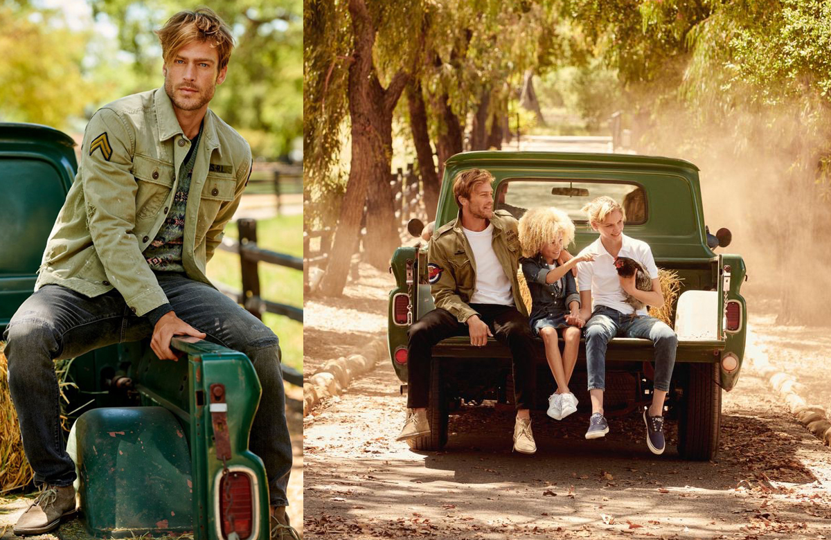 Model Jason Morgan w nowej kampanii marki Polo Ralph Lauren