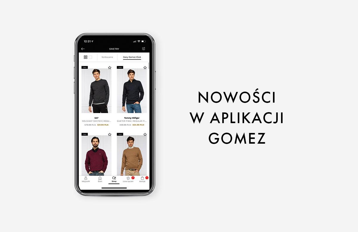 Jeszcze wygodniejsze zakupy w Gomez dzięki aktualizacji aplikacji Gomez Fashion Store
