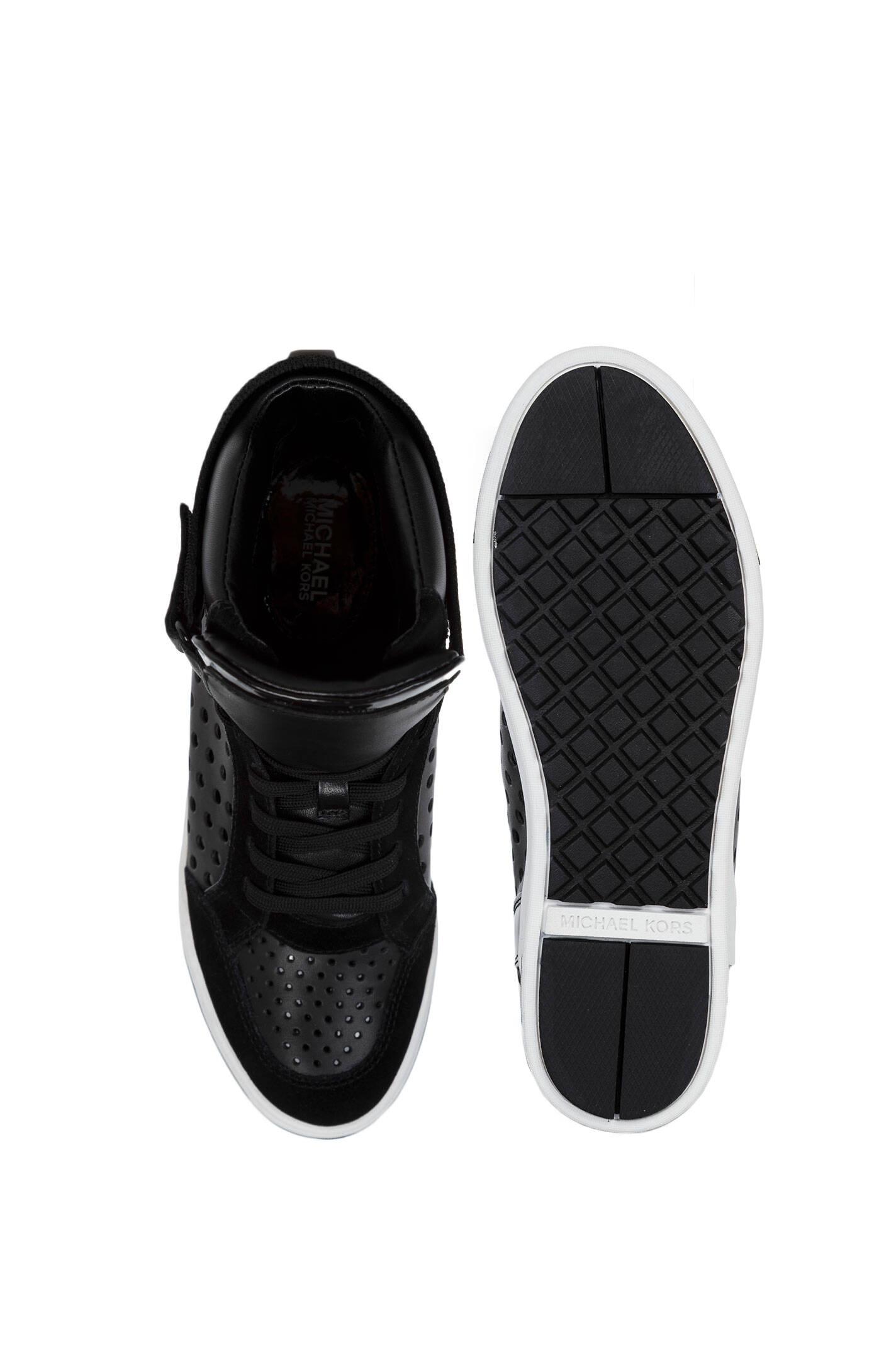 a0f2070857a86 Sneakersy Pia High Top Michael Kors | Czarny | Gomez.pl