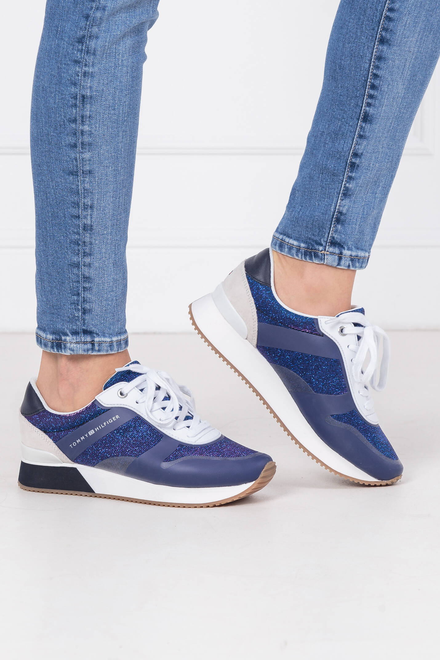 aef1f509608cb Sneakers GLITTER CITY Tommy Hilfiger | Navy blue | Gomez.pl/en