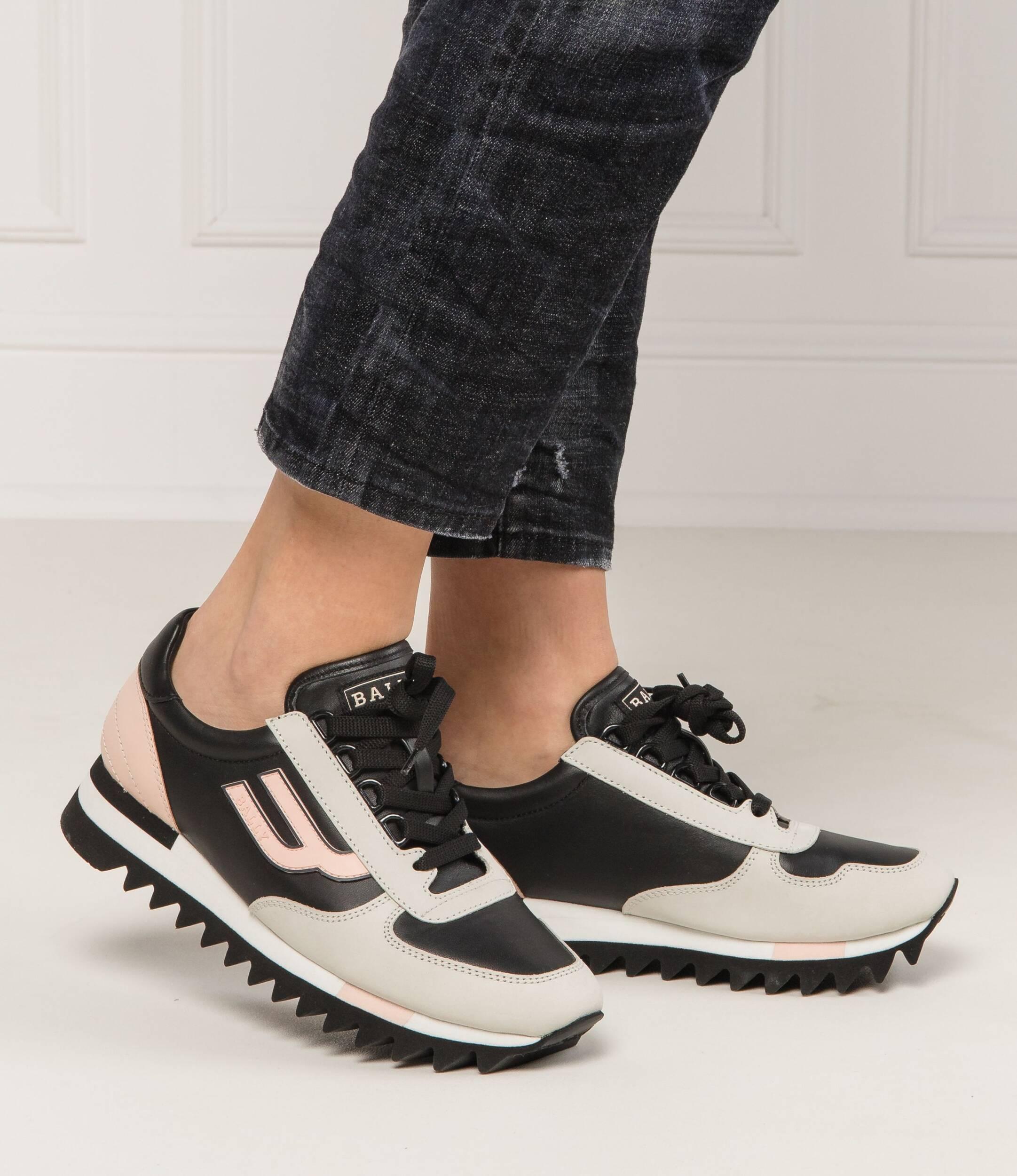 Leather sneakers GAVINIA Bally | Gray