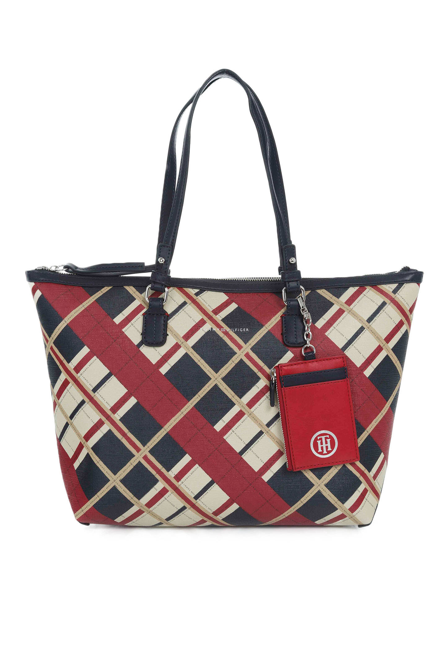 2c5439521da Love Tommy Rev. Med Tote Check Shopper Bag Tommy Hilfiger | Navy blue |  Gomez.pl/en