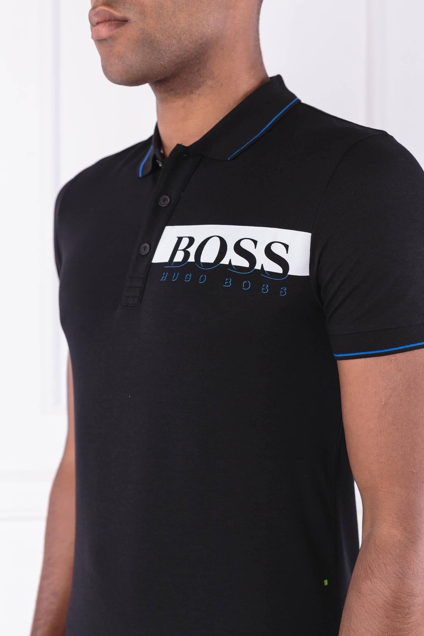 084659ed7 Polo Paule pro | Slim Fit Boss Athleisure | Black | Gomez.pl/en
