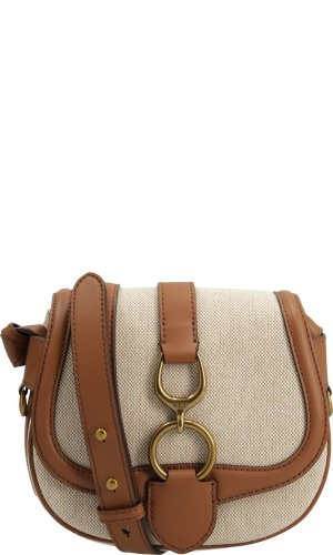Lauren Ralph Lauren Listonoszka Barrington Natural Saddle