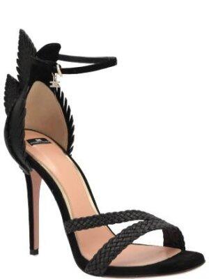 Elisabetta Franchi Skórzane sandały na szpilce
