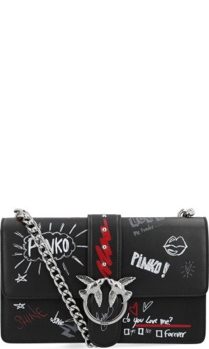 Pinko Skórzana torebka na ramię