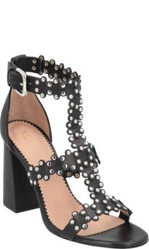 Red Valentino Skórzane sandały na słupku