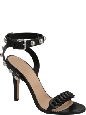 Red Valentino Skórzane sandały na szpilce