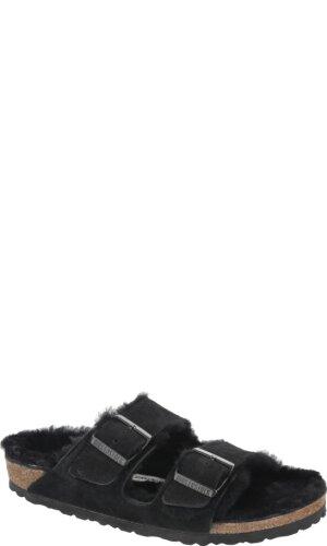 Birkenstock Skórzane klapki Arizona FUR | Narrow Fit