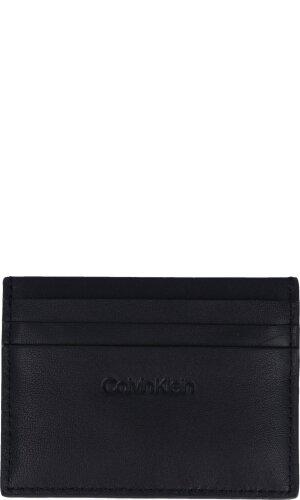 Calvin Klein Skórzany wizytownik SMOOTH EMBOSS