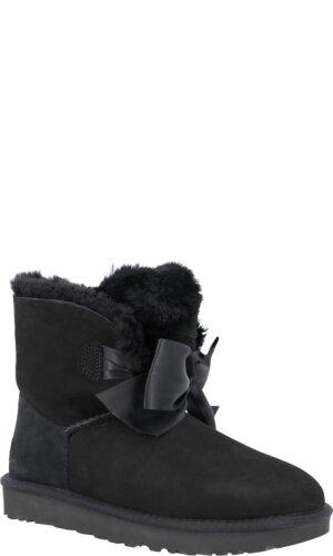 UGG Skórzane śniegowce W GITA BOW MINI