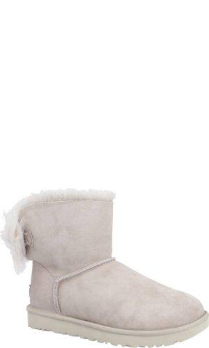 UGG Skórzane śniegowce FLUFF BOW MINI