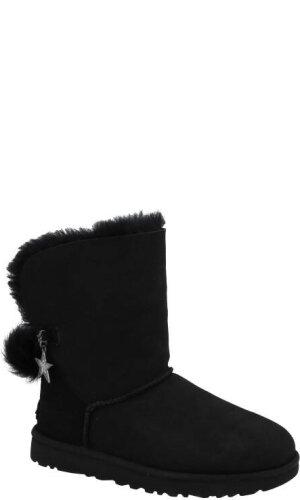 UGG Skórzane śniegowce W CLASSIC CHARM