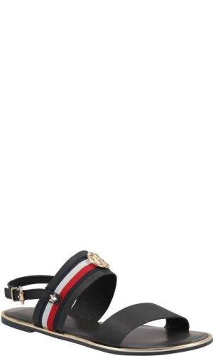 Tommy Hilfiger Skórzane sandały RIBBON