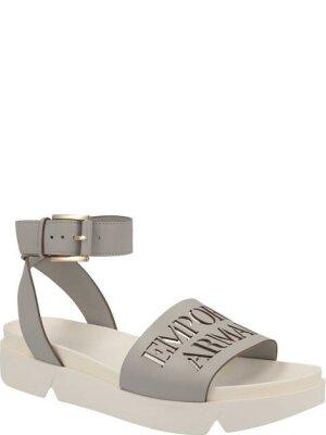 Emporio Armani Skórzane sandały