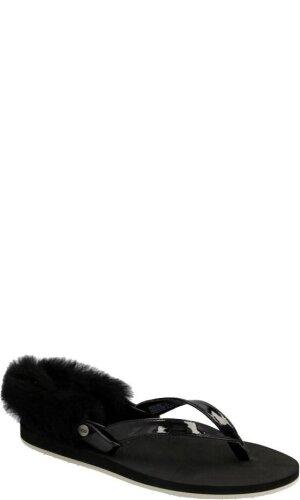 UGG Sandały/japonki laalaa | z dodatkiem skóry