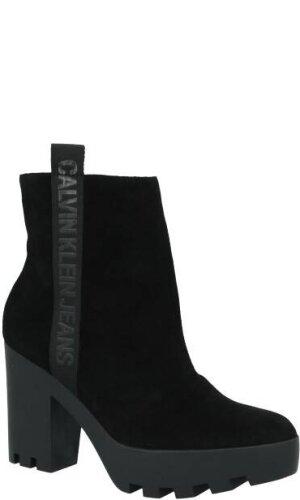 Calvin Klein Jeans Skórzane botki SERINA