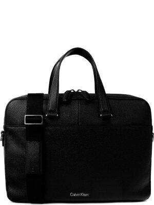 Calvin Klein Skórzana torba na laptopa 14'' Bastic leather