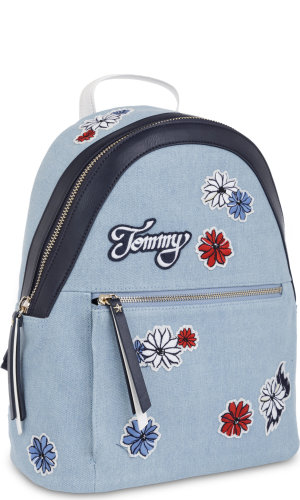Tommy Hilfiger Plecak ICON CANVAS FLOWER | denim