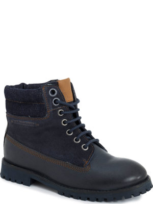Pepe Jeans London Buty Combat Denim