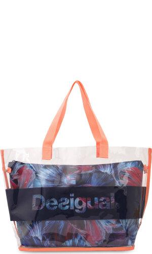 Desigual Shopperka 2w1 TRANSPARENT SWIM BAG_ATLANTIS