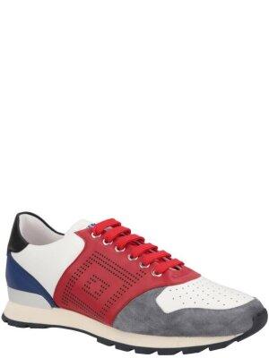 Versace Collection Skórzane sneakersy