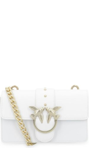 Pinko Skórzana torebka na ramię Love Simply