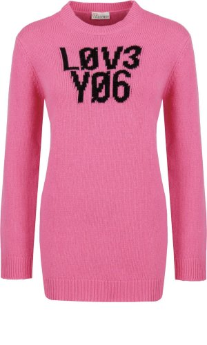 Red Valentino Wełniany sweter | Regular Fit