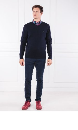 Tommy Hilfiger Wełniany sweter LAMBSWOOL | Regular Fit