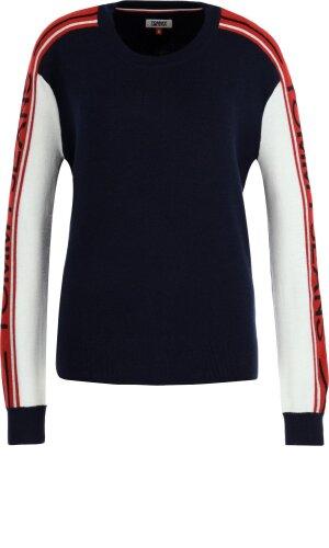 Tommy Jeans Sweter COLORBLOCK | Regular Fit | z dodatkiem wełny