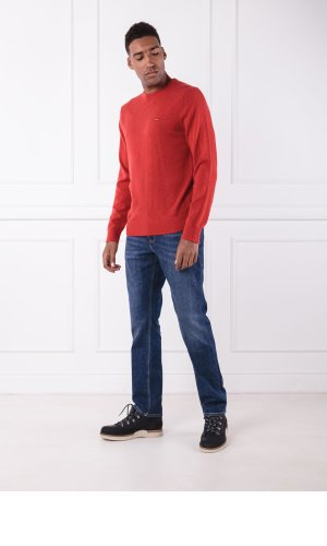 Tommy Hilfiger Wełniany sweter LAMBSWOOL CNECK | Regular Fit