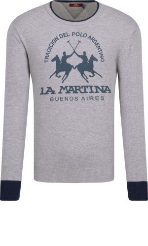La Martina Sweter MAN CREW NECK LAMBSCOT GG. 12 | Regular Fit | z dodatkiem wełny