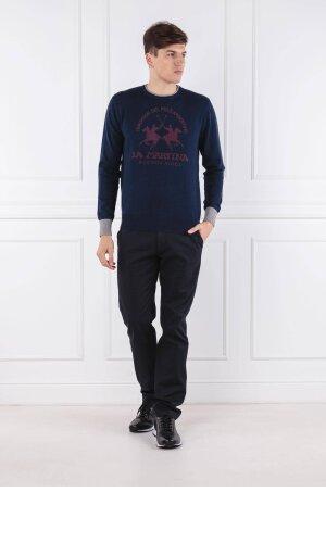 La Martina Sweter MAN CREW NECK LAMBSCOT GG. 12 | Regular Fit | z dodatkiem wełny | Regular Fit