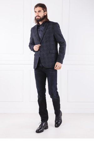 Trussardi Jeans Marynarka WOOL FANTASY CHECK | Regular Fit