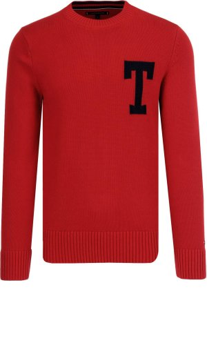 Tommy Hilfiger Sweter LOGO CNECK | Regular Fit
