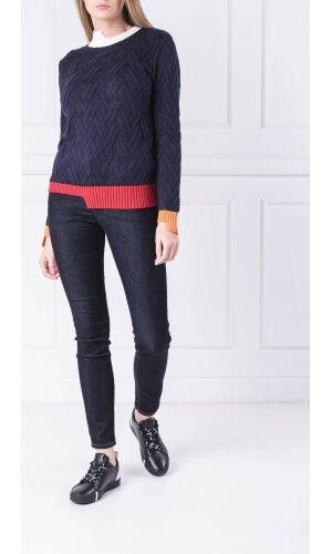 Armani Exchange Sweter   Slim Fit   z dodatkiem wełny