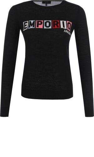 Emporio Armani Sweter | Slim Fit | z dodatkiem wełny