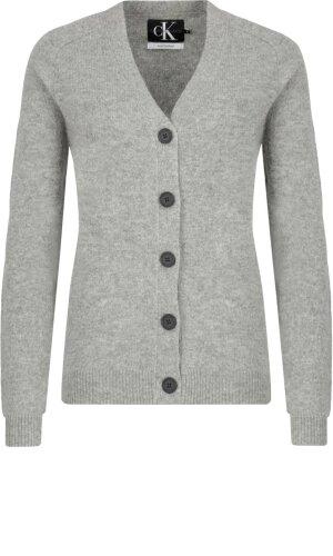 Calvin Klein Jeans Wełniany kardigan SHETLAND WOOL | Regular Fit