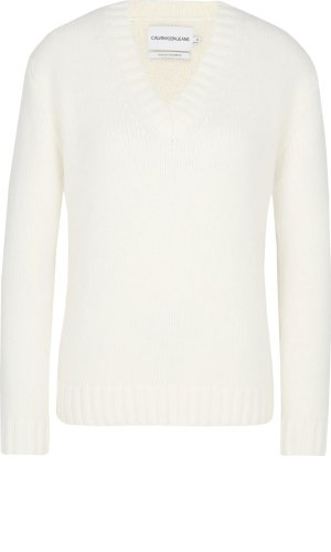 Calvin Klein Jeans Wełniany sweter | Regular Fit