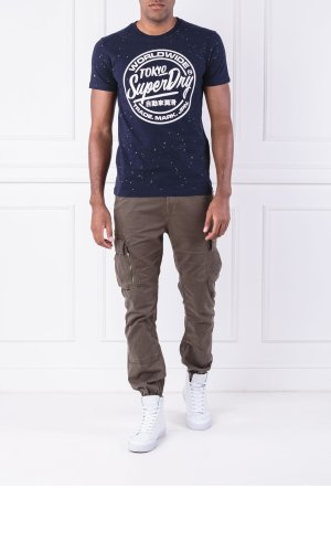 Superdry T-shirt WORLDWIDE TICKETTYPE SPLAT TEE | Regular Fit