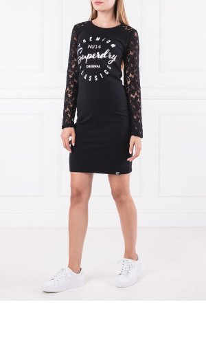 Superdry Sukienka LACE PANELLED