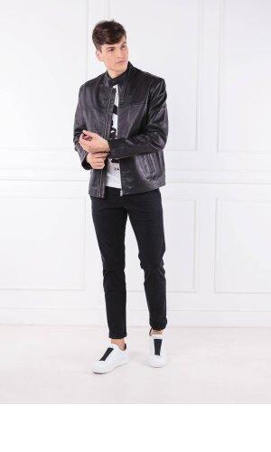 Calvin Klein Jeans Skórzana kurtka | Regular Fit