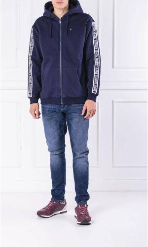 Tommy Jeans Bluza TJM RIB LOGO HOODIE | Regular Fit