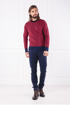Tommy Hilfiger Wełniany sweter COLOR TIPPED | Regular Fit