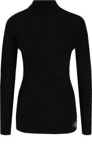 Calvin Klein Jeans Golf | Slim Fit | z dodatkiem wełny
